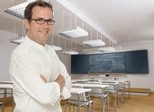 Ευτυχής δάσκαλος μαθηματικών Στοκ φωτογραφία με δικαίωμα ελεύθερης χρήσης