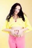 ευτυχής έγκυος γυναίκ&alpha Στοκ Εικόνα