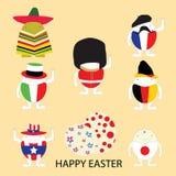 Ευτυχής έννοια αυγών απεικόνισης εικονογράφων Πάσχας διανυσματική Στοκ Εικόνα