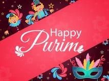 Ευτυχής έννοια εορτασμού κομμάτων Purim με τη μεταμφίεση και αστείος ελεύθερη απεικόνιση δικαιώματος