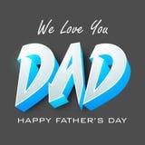 Ευτυχής έννοια ημέρας πατέρων. Στοκ Φωτογραφία