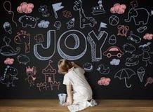 Ευτυχής έννοια παιδιών χαράς παιδιών παιδιών στοκ φωτογραφία με δικαίωμα ελεύθερης χρήσης