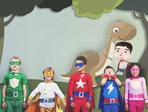 Ευτυχής έννοια φαντασίας παιδικής ηλικίας παιδιών παιδιών στοκ φωτογραφίες με δικαίωμα ελεύθερης χρήσης