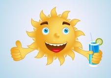 ευτυχής ήλιος παραθαλά&sig Στοκ φωτογραφία με δικαίωμα ελεύθερης χρήσης