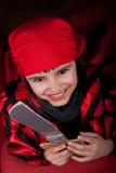 Ευτυχής λίγο κορίτσι πειρατών Στοκ Εικόνα