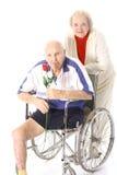 ευτυχής αγάπη αναπηρίας ζευγών Στοκ Εικόνα
