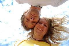 ευτυχής αγάπη ζευγών Στοκ Φωτογραφία