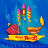 Ευτυχής ανασκόπηση diwali Στοκ Φωτογραφίες