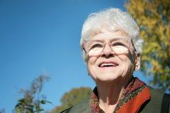 ευτυχής ανώτερη γυναίκα Στοκ Εικόνα