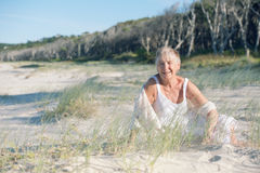 ευτυχής ανώτερη γυναίκα Στοκ Φωτογραφία