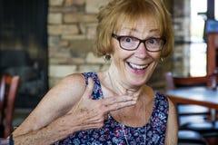 ευτυχής ανώτερη γυναίκα Στοκ φωτογραφία με δικαίωμα ελεύθερης χρήσης