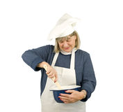 Ευτυχής ανώτερος αρχιμάγειρας Στοκ Φωτογραφίες