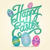 Ευτυχής απεικόνιση καρτών Πάσχας με τα αυγά Πάσχας απεικόνιση αποθεμάτων