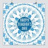 Ευτυχής αφίσα ημέρας δασκάλων Στοκ εικόνες με δικαίωμα ελεύθερης χρήσης