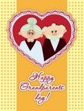 Ευτυχής αφίσα ημέρας παππούδων και γιαγιάδων Στοκ εικόνες με δικαίωμα ελεύθερης χρήσης