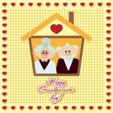 Ευτυχής αφίσα ημέρας παππούδων και γιαγιάδων Στοκ Εικόνες