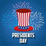 Ευτυχής αφίσα Προέδρων Day ελεύθερη απεικόνιση δικαιώματος
