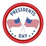 Ευτυχής αφίσα Προέδρων Day διανυσματική απεικόνιση