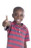 Ευτυχής αφρικανικός αντίχειρας αγοριών επάνω Στοκ φωτογραφίες με δικαίωμα ελεύθερης χρήσης
