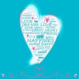 ευτυχής βαλεντίνος απεικόνισης s καρδιών ημέρας Στοκ φωτογραφία με δικαίωμα ελεύθερης χρήσης