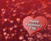 Ευτυχής βαλεντίνων ` s απεικόνιση Δ στις 3 Φεβρουαρίου καρδιών ημέρας κόκκινη μεγάλη Στοκ φωτογραφίες με δικαίωμα ελεύθερης χρήσης
