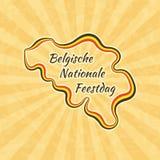 Ευτυχής βελγική εθνική μέρα Στοκ Φωτογραφίες
