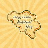 Ευτυχής βελγική εθνική μέρα Στοκ φωτογραφία με δικαίωμα ελεύθερης χρήσης