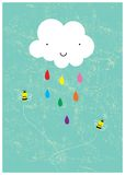 ευτυχής βροχή ημέρας στοκ εικόνες
