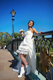 ευτυχής γάμος φορεμάτων &nu Στοκ εικόνες με δικαίωμα ελεύθερης χρήσης