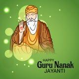 Ευτυχής γκουρού Nanak Jayanti Στοκ εικόνα με δικαίωμα ελεύθερης χρήσης