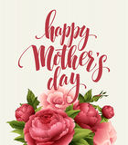 Ευτυχής γράφοντας κάρτα ημέρας μητέρων Κάρτα Greetimng με το λουλούδι επίσης corel σύρετε το διάνυσμα απεικόνισης ελεύθερη απεικόνιση δικαιώματος