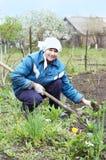 ευτυχής γυναίκα αγροτών Στοκ εικόνα με δικαίωμα ελεύθερης χρήσης