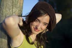 ευτυχής γυναίκα ηλιοβ&alpha Στοκ Εικόνες