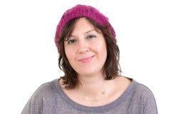 Ευτυχής γυναίκα με ένα γοητευτικό χαμόγελο Στοκ Εικόνες