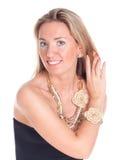 ευτυχής γυναίκα πορτρέτ&omicr Στοκ εικόνα με δικαίωμα ελεύθερης χρήσης