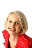ευτυχής γυναίκα πορτρέτ&omicr Στοκ εικόνες με δικαίωμα ελεύθερης χρήσης