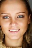 ευτυχής γυναίκα πορτρέτ&omicr Στοκ Εικόνα