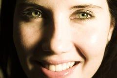 ευτυχής γυναίκα προσώπο& Στοκ εικόνες με δικαίωμα ελεύθερης χρήσης