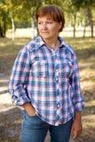 Ευτυχής γυναίκα στο δάσος Στοκ Εικόνα