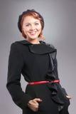 ευτυχής γυναίκα ύφους πορτρέτου αναδρομική Στοκ εικόνα με δικαίωμα ελεύθερης χρήσης