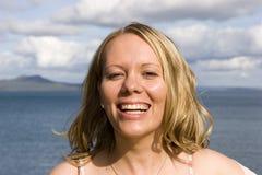 ευτυχής γυναίκα Στοκ Φωτογραφία
