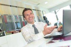 Ευτυχής διευθυντής στην αρχή Στοκ φωτογραφίες με δικαίωμα ελεύθερης χρήσης