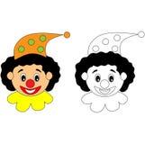 Ευτυχής δραστηριότητα χρωματισμού κλόουν τσίρκων Στοκ εικόνα με δικαίωμα ελεύθερης χρήσης