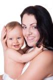 ευτυχής εικόνα μητέρων μωρών Στοκ φωτογραφία με δικαίωμα ελεύθερης χρήσης