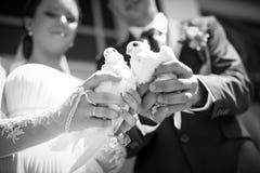 ευτυχής εκλεκτής ποιότητας γάμος ημέρας ζευγών ιματισμού στοκ εικόνα με δικαίωμα ελεύθερης χρήσης