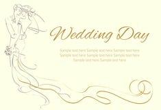ευτυχής εκλεκτής ποιότητας γάμος ημέρας ζευγών ιματισμού Ελεύθερη απεικόνιση δικαιώματος