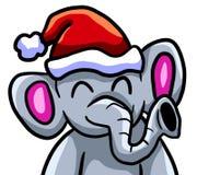 Ευτυχής ελέφαντας Χριστουγέννων διανυσματική απεικόνιση