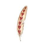 Ευτυχής εορτασμός αγάπης ημέρας βαλεντίνων σε ένα ύφος watercolor που απομονώνεται διανυσματική απεικόνιση