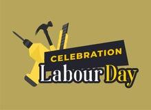 Ευτυχής εορτασμός ημέρας εργασίας Ευτυχής κάρτα ημέρας εργασίας ή αφίσα ή πρότυπο ιπτάμενων Ευτυχές σχέδιο ημέρας εργασίας, διανυ διανυσματική απεικόνιση