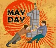Ευτυχής εορτασμός ημέρας Μαΐου απεικόνιση αποθεμάτων